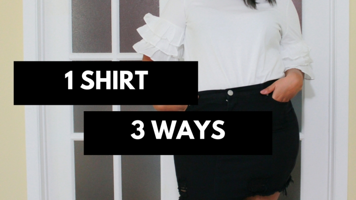 1 Shirt 3 Ways: Ruffle Top