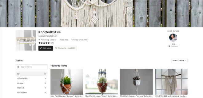 knotted by eva Etsy store